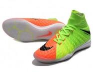 Футзалки Nike HypervenomX Proximo II DF IC Green/Orange