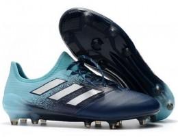 Бутсы (копы) Adidas ACE 17.1 Leather FG Jade Navy Blue