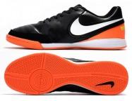 Футзалки Nike Tiempo Mystic V IC black orange Pro