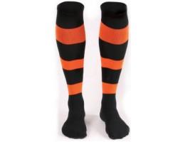 Футбольные гетры Liga Sport FS-66 черно-оранжевые