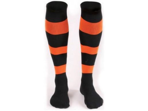 Футбольные гетры Liga Sport FS-66 детские черно-оранжевые